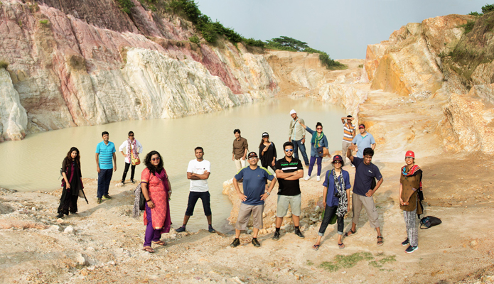 Architects on Birishiri White Clay mine